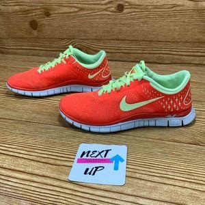 Nike Free 4.0 V2 Bright Crimson/Volt Running Shoes